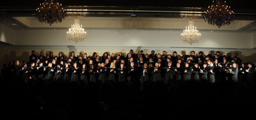 University Chorus performs.