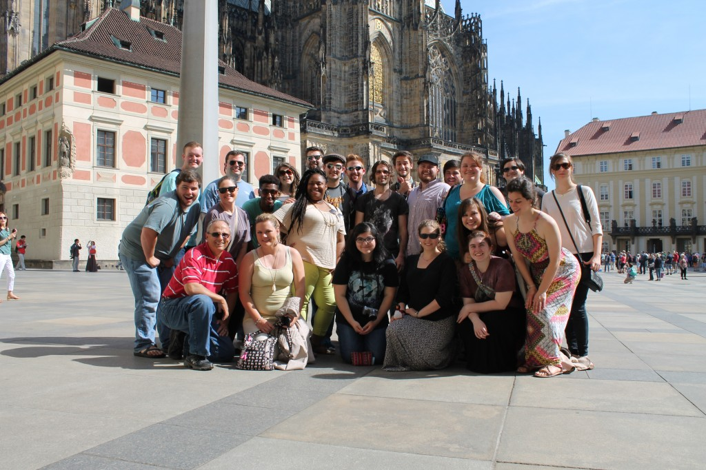 Concert Singers at St. Vistas in Prague on their 2014 European tour.