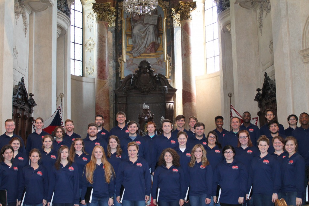 Concert Singers perform at St. Nicholas Church in Prague on their 2014 European tour.